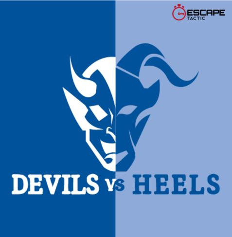Devils vs Heels escape room logo