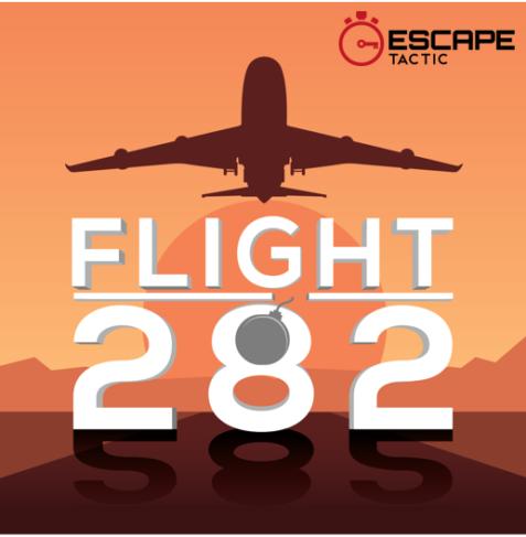 Flight 282 escape room logo