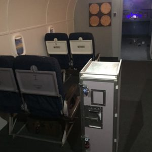 Beverage cart in First Class